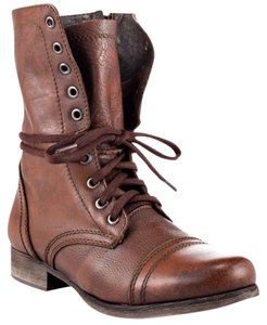 Steve Madden Leather Combat Brown Boots