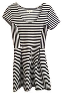 Madewell short dress Black/White Striped Fit N Flare on Tradesy