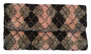 Pringle of Scotland Black & Pink Clutch