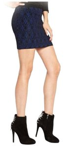 Guess By Marciano Diamond Mini Skirt Blue/Black