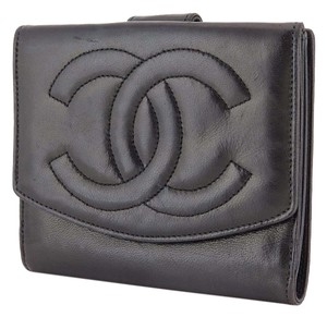 Chanel Chanel CC wallet black Lambskin leather