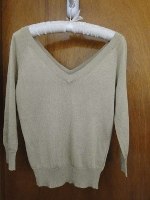 Banana Republic Double Vee Rayon 3/4 Sleeve Sweater