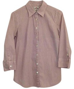 J.Crew Button Down Shirt Pink/White Stripe