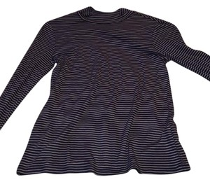 Nordstrom T Shirt Blue White Stripe