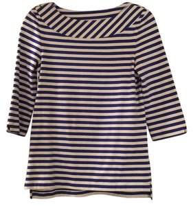 Kate Spade T Shirt Navy and white