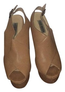 Steve Madden Tan/ brown Platforms