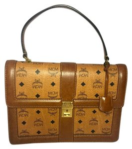MCM Monogram Satchel in Brown