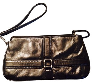Wilsons Leather Wristlet Mini Black Clutch