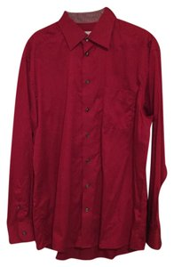Eton Button Down Shirt Burgundy