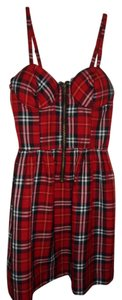 Hot Topic short dress Red Plaid on Tradesy