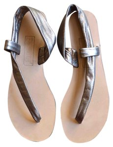 Bridget Leather Sandal Metallic pewter Sandals