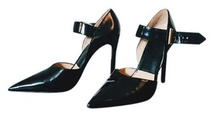 Zara Metallic Hardware Black Pumps