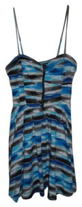 Material Girl short dress Blue and grey on Tradesy