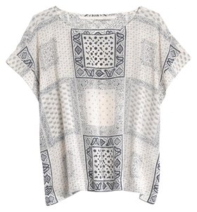 Madewell Print Aztec Chic Top White