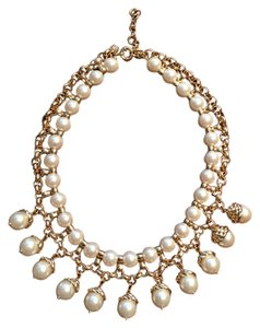Banana Republic Banana Republic Mad Men Collection Gold-plated Pearl Necklace