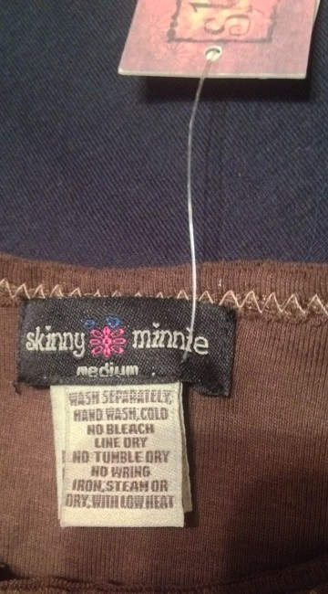 Skinny Minnie T Shirt Brown, Pink Image 3