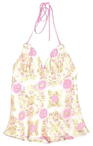 MILLY Silk Floral Daisies Halter Top