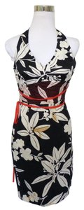Tommy Bahama short dress Black Hawaiian Floral Halter on Tradesy