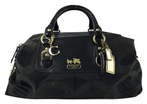 Coach Sabrina Large Travel Satchel in Black
