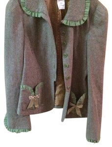 Anthropologie Gray and green Blazer