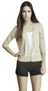 Haute Hippie Silk Cashmere 3/4 Sleeves Cardigan