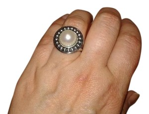 Honora Cultured freshwater pearl (10 1/2 mm) ring in sterling silver