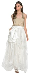 TOV Holy Maxi Skirt White