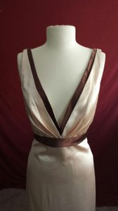 Allure Bridals Champagne/Chocolate Style #: 1155 Formal Bridesmaid/Mob Dress Size 14 (L)