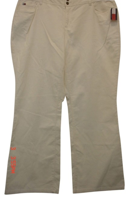Preload https://item4.tradesy.com/images/tommy-hilfiger-off-white-cotton-and-spandex-corduroy-5-pockets-straight-leg-pants-size-20-plus-1x-1609938-0-0.jpg?width=400&height=650