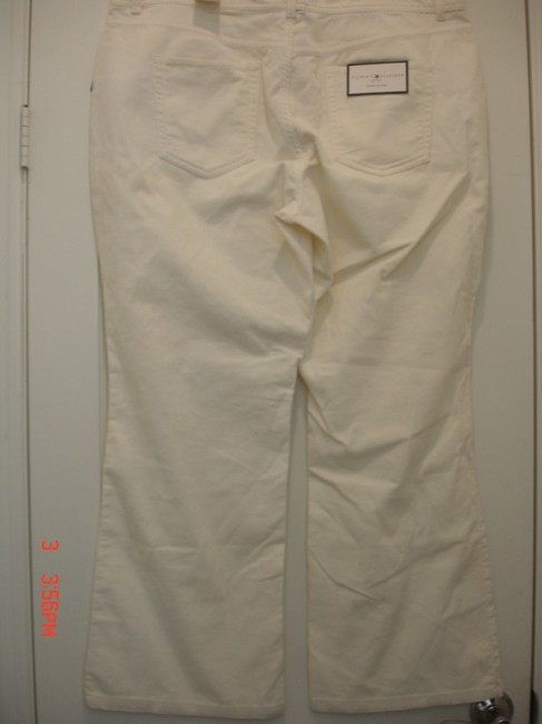 Tommy Hilfiger Straight Pants Off White Image 4