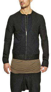 Rick Owens Black Paneled Bomber Jacket