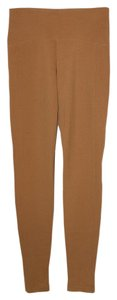 Maggie Ward Knit Ponte Stretchy Elastic Beige Leggings