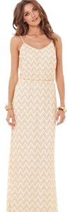 Gold/White Maxi Dress by Lilly Pulitzer