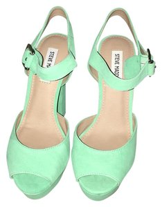 Steve Madden Mint green Platforms