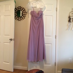 Alfred Angelo Lilac Chiffon Modern Bridesmaid/Mob Dress Size 10 (M)