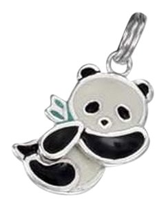 unknown Sterling Silver Movable Panda Bear Charm