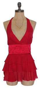 BCBGMAXAZRIA Halter Top RED