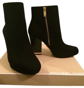 Michael Kors Suede Ankle Black Boots