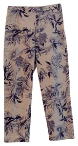 Willi Smith Trouser Pants White with navy print