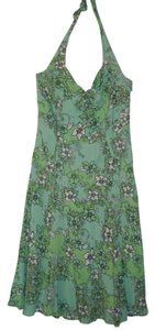 Green Maxi Dress by Ann Taylor LOFT Size 2 Halter Floral Sale