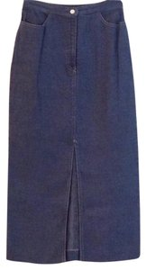 Platinum by Dorothy Schoelin Maxi Skirt Navy and white