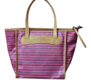 Fossil Michale Kors Tote in Pink Multicolor Stripe