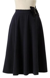 Anthropologie Cartonnier Midi Navy Skirt