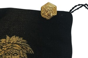 Versace NEW NWOT Authentic Gianni Versace Gold Tone Classic Iconic Medusa Single Earring Stud w/ POUCH!