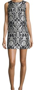 Alice + Olivia Shift Clyde Black And White Dress