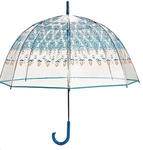 Vera Bradley AUTO OPEN BUBBLE UMBRELLA - MARRAKESH BLUE