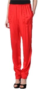 Lanvin Silk Harem Baggy Pants Red