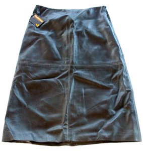 Luscious Leather A-line Nwt New Skirt Black