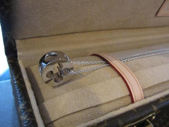 Louis Vuitton Louis Vuitton Empreinte Necklace in White Gold with Steamer Trunk