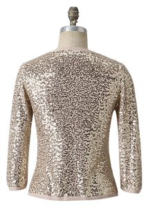 Anthropologie Sanctuary Sequins Gold Cardigan Sweater